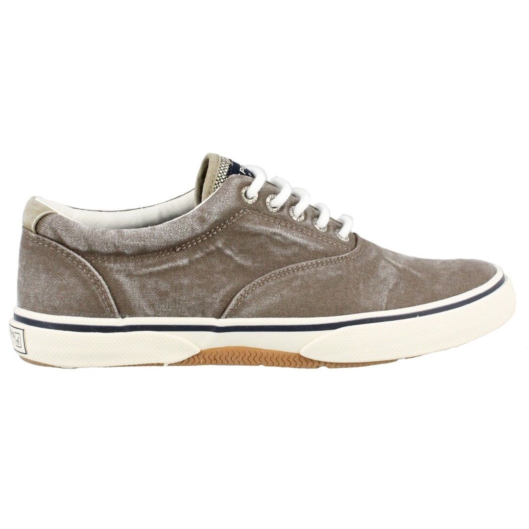 Sperry Top Sider Men's Halyard Ll Chocolate Canvas Boat shoes