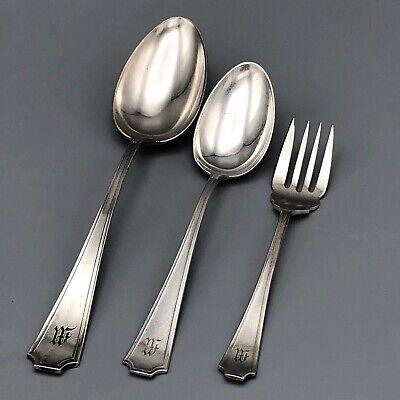 """Set 4 x Soup Dessert Place Spoon 7 1//8/"""" Birks Regency Plate Windsor silverplate"""