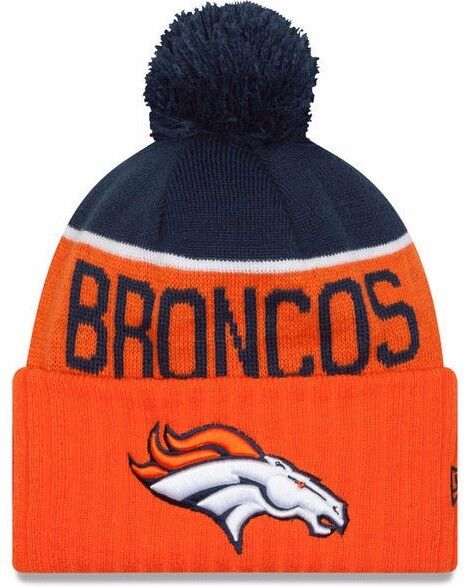 Denver Broncos Era Knit Hat on Field Sideline Beanie Pom Stocking ... 165b393661