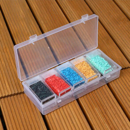 42 64 Slots Embroidery Diamond Painting Storage Box Case Nail Art Holder Cases