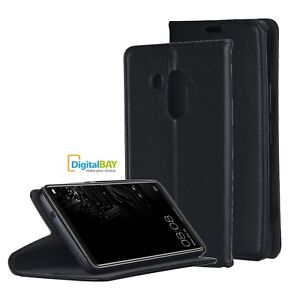 Custodia Cover Horizontal Flip Case Eco Pelle Nero per Huawei Mate 10 Pro