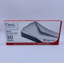 Mead 10 Envelopes Business Amp Legal White Letter All Purpose Mailing 50 Count