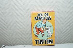 JEU-DE-CARTE-DE-FAMILLES-TINTIN-HERGE-1993-VINTAGE-CARD-BE