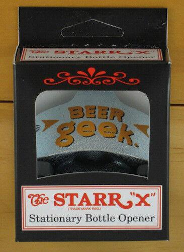 NEW BEER GEEK Starr X Wall Mount Stationary Bottle Opener Sturdy Metal Design