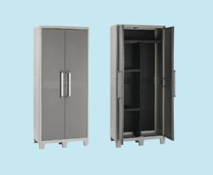 Dettagli su armadio esterni portattrezzi porta scope portascope mobili  esterno