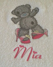 Tatty Grey Teddy Personalised Bath Towel 100% Cotton me to you