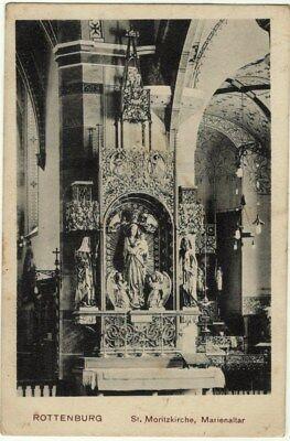 Diplomatisch Alte Ak 1916 Rottenburg Am Neckar Marienaltar Moritzkirche St