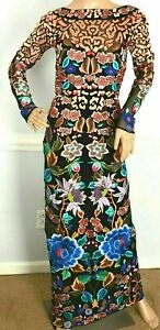 New-NWT-Temperley-London-Long-Baudelaire-Embroidered-Dress-Gown-UK-6-US-2