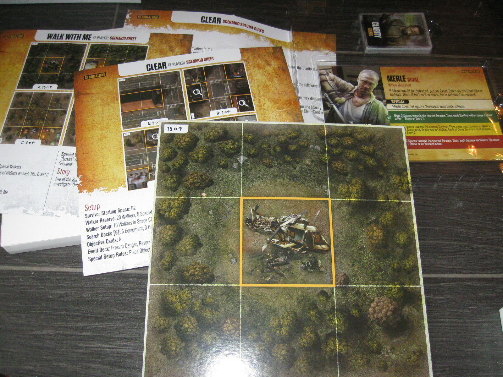 NEW The WALKING DEAD No Sanctuary Walk Me Clear Expansion Kickstarter Exclusive