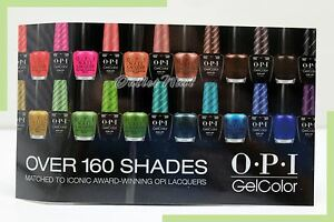 """New OPI WINDOW CLING GelColor Gel Nail Lacquer 4.75"""" x 8.25"""" GC900 GL900 GL901"""