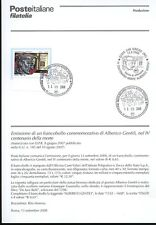 ITALY 2008 ALBERICO GENTILI BULLETIN COMPLETE STAMPS FDC