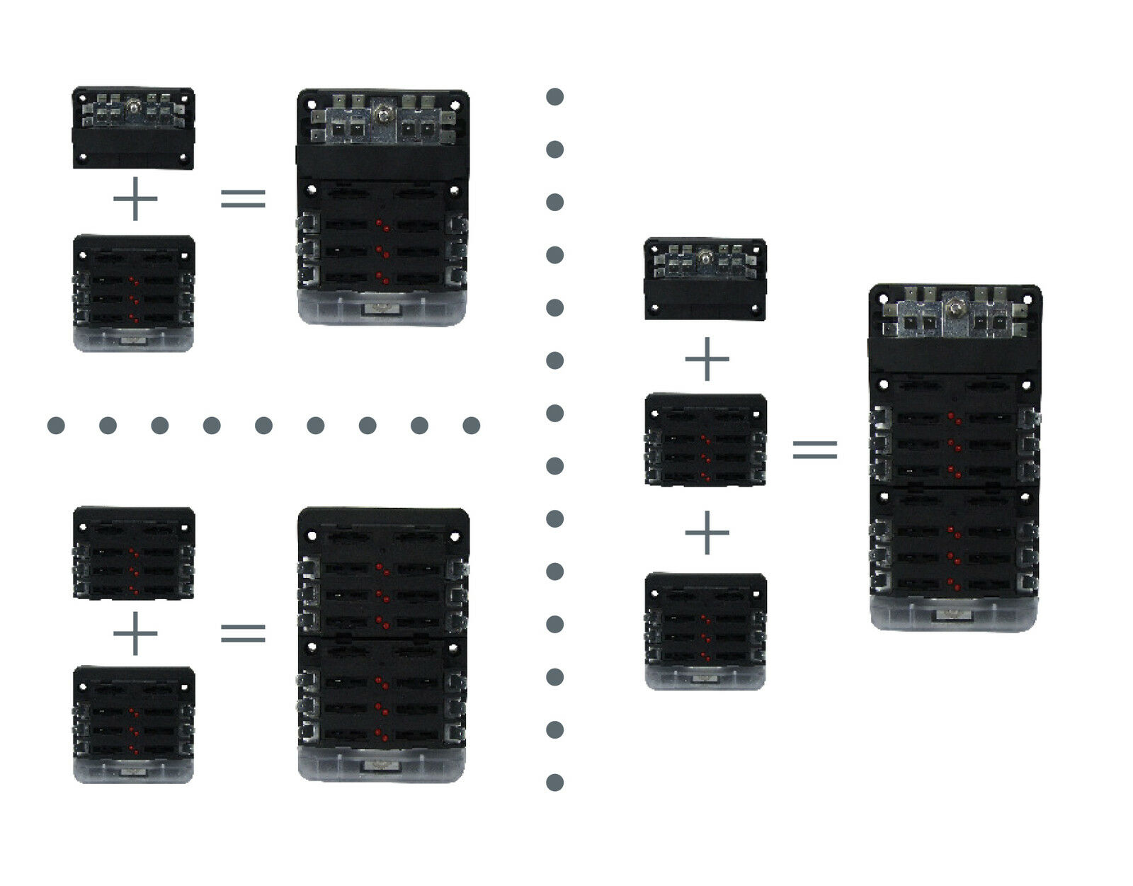 Circuit Fuse Box 6 Way 12 Volt Or 24 Volt 100 Amp Modular Design Blade Fuse