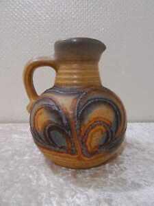 Cerámica Diseño Florero Jarra - Vintage Um 1960/70 - Alemanes Pottery - Fat Lava