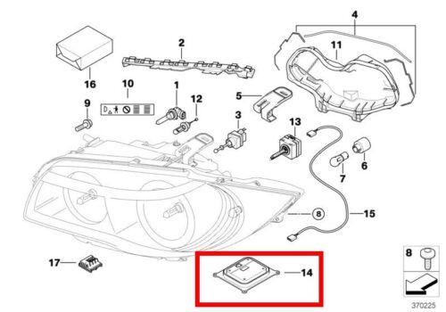 Vauxhall Opel Vectra C Signum Xénon Phare Projecteur Ballast 6 g Module de contrôle