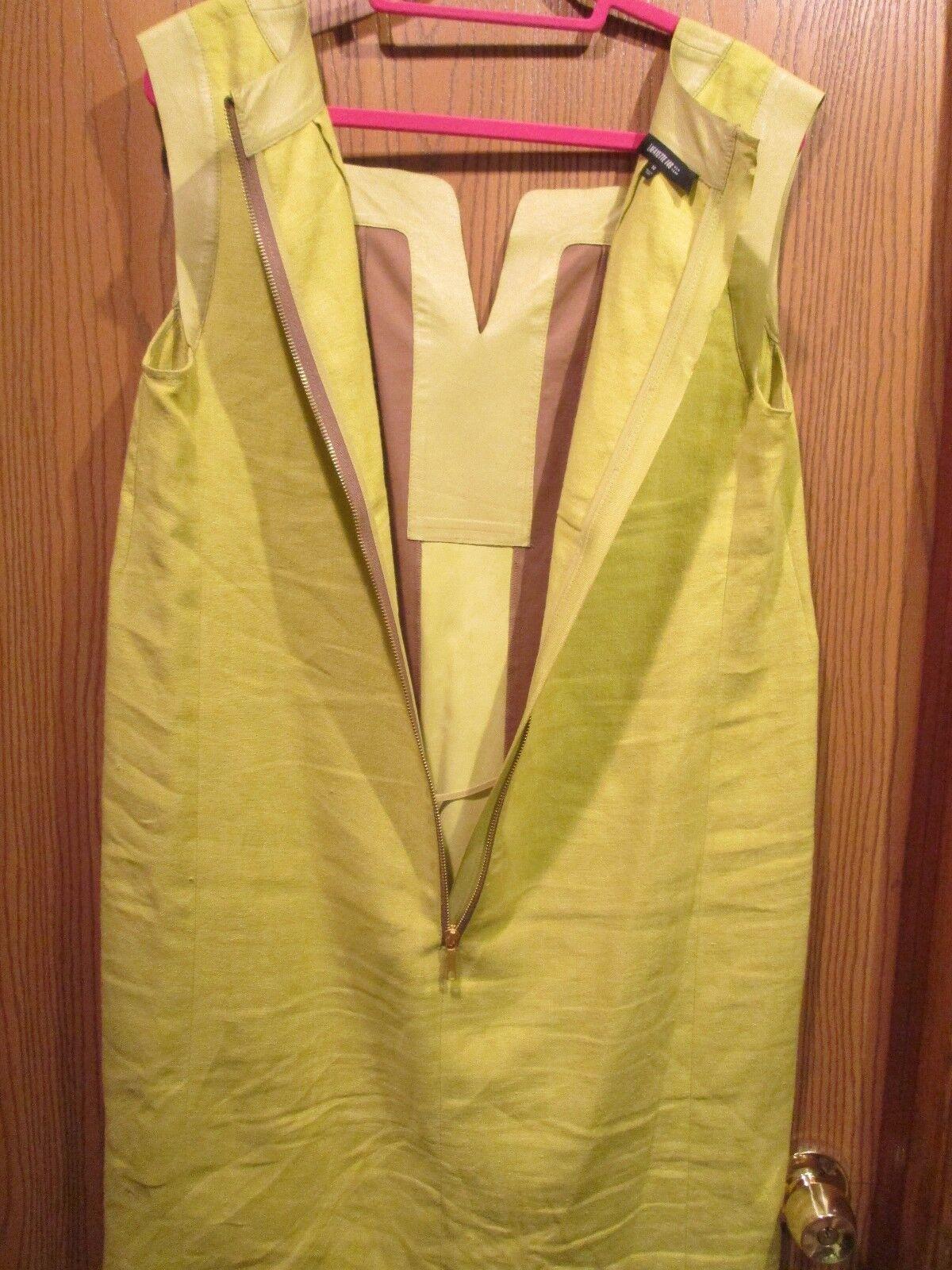 Lafayette Green Linen Linen Linen Sleevelees Dress Size 14 64adea