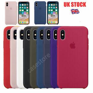 para Apple iPhone x 8 8 plus Oficial Auténtico Funda de silicona suave en Caja