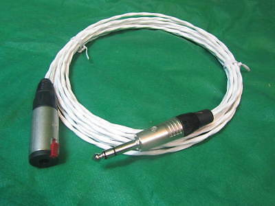 SILVER PLATED 10 FT AUDIOPHILE HEADPHONE EXTENSION CABLE 3.5mm MADE IN USA