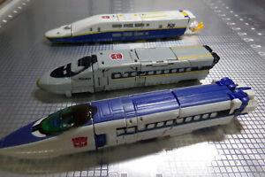 3 Vintage 2000 Transformers Robots TRAINS Autobot Combiners Cybertron J4,J5 & J7