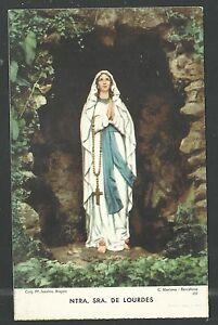 image pieuse ancianne de la Virgen de Lourdes santino holy card estampa lQNh4A5E-08022743-503501070