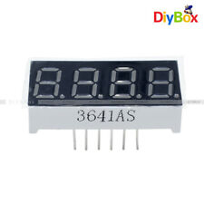 2pcs 036 7 Segment 4 Digit Common Cathode 036 Red Led Digital Display Diy
