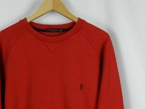 80a5c75c Details about Yves Saint Laurent Vintage Mens Sweatshirt Long Sleeve Red  YSL Size XL