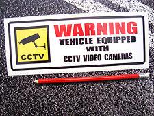 CCTV CAMERA WARNING STICKER 230mm  VAN / TRUCK SIZE SCANIA VOLVO RENAULT DAF