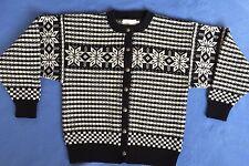 Pleasant Company American Girl Kirsten Black White Cardigan Sweater XL Retired