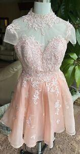 JJ House Peachy Pink Homecoming Dress