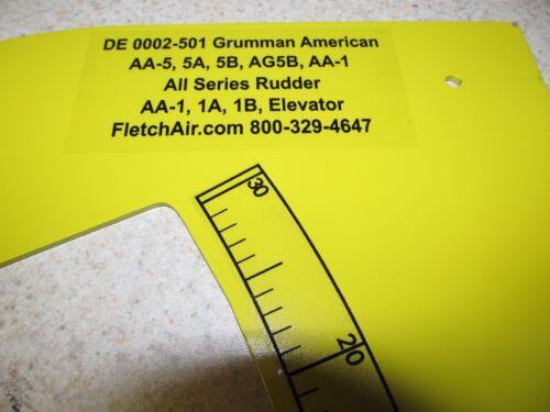 Grumman AA-5,5A,5B,AG5B AA-1C Rudder Rigging Fixture AA-1,1A,1B Rudder Elevator