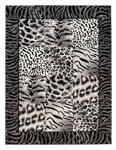 teppich modern tierfell muster zebra safari karo teppiche kurzflor 7 gro en ebay. Black Bedroom Furniture Sets. Home Design Ideas