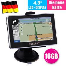 """GOLBAY4.3"""" PKW Auto KFZ Navi GPS Navigationsgerät 16GB NEU Europa Navigation"""