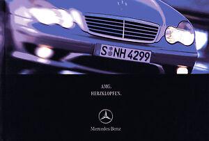 Mercedes-AMG-Prospekt-2000-5-00-CL-CLK-SL-SLK-E-ML-55-Autoprospekt-brochure-Auto