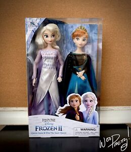 2019-Disney-Queen-Anna-amp-Snow-Queen-Elsa-Classic-Doll-Boxed-Set-Frozen-2-NIB