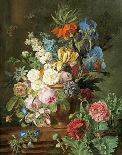Floral Arrangement in Brown Vace by Frans van Dael