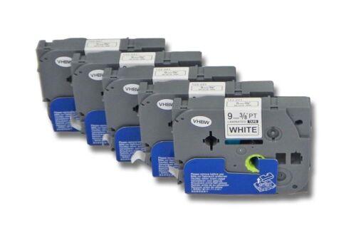 E100VP P700 5x Label Tape 9mm für BROTHER E100