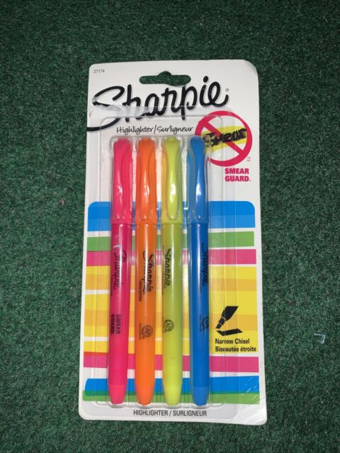 Sharpie Accent Pocket-Style Highlighters, Assorted (4 Pack)