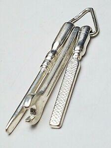 5-cm-grosser-Design-Ketten-Anhaenger-925-Silber-WERKZEUG-Vintage-70er-Jahre-A-883