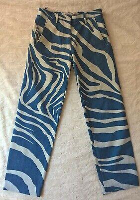 Just Cavalli Women/'s Animal Print Stretch Straight Leg Jeans