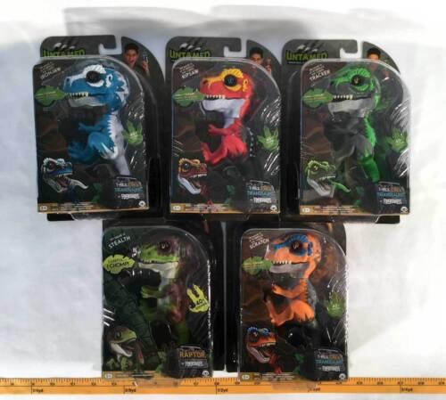 Fingerlings Untamed Raptor T Rex Lot Set of 5 Dinosaurs Interactive WowWee 2018