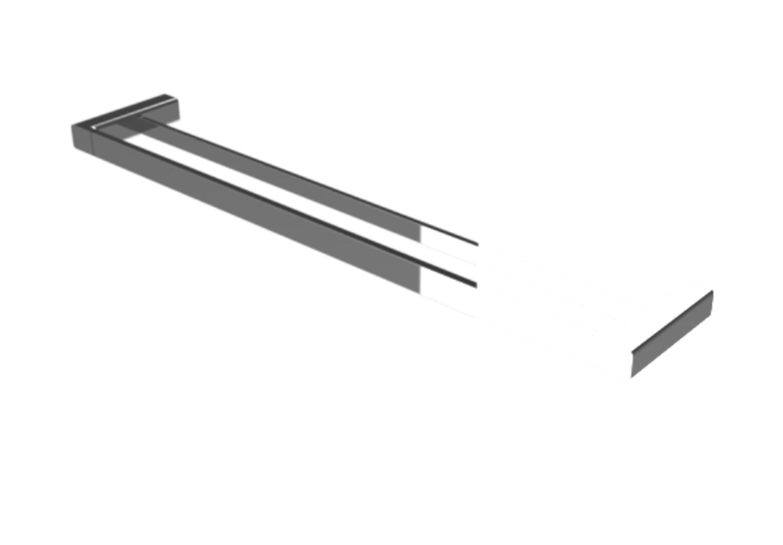 Dorf EPIC DOUBLE TOWEL RAIL Dual Fixing, Superior CHROME*AUS Brand- 600 Or 800mm