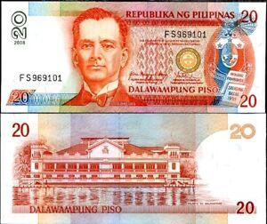 PHILIPPINES-20-PESO-2008-P-182-UNC