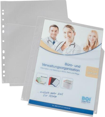 EICHNER 10x PP-Dokumentenhülle Maxi Prospekthülle Dokumenten-Tasche