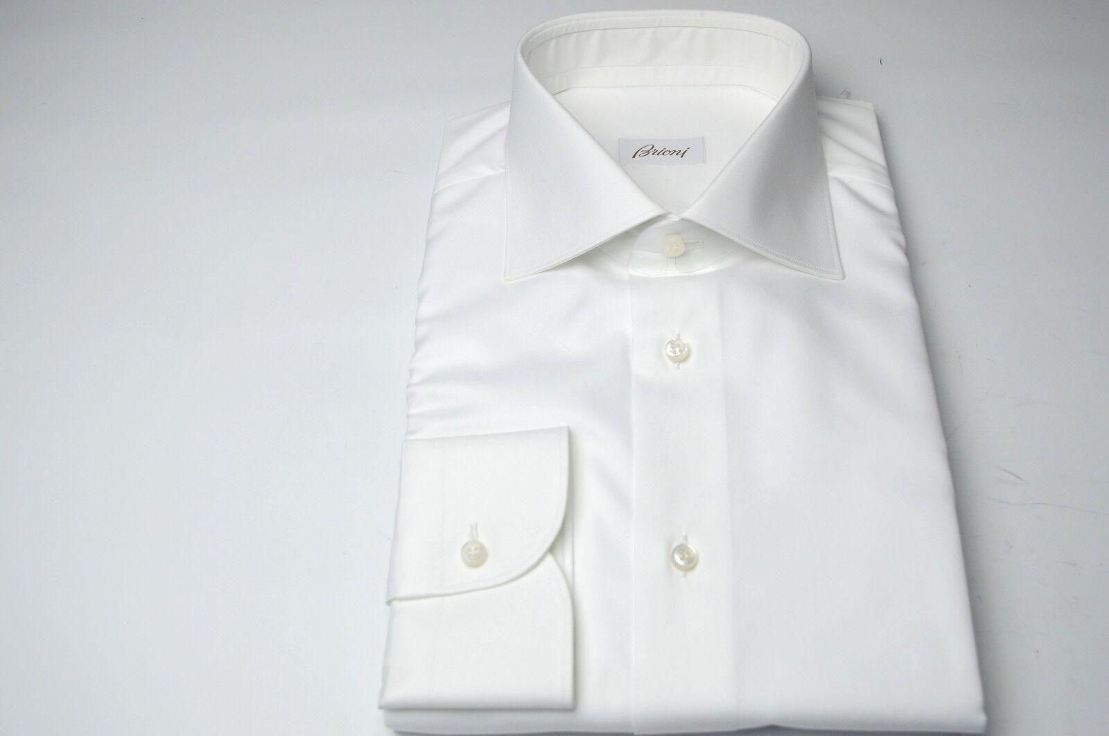 NEW   590,00 BRIONI Dress SHIRT 100% Cotton Size 15.5 Us 39 Eu (Cod MA61)