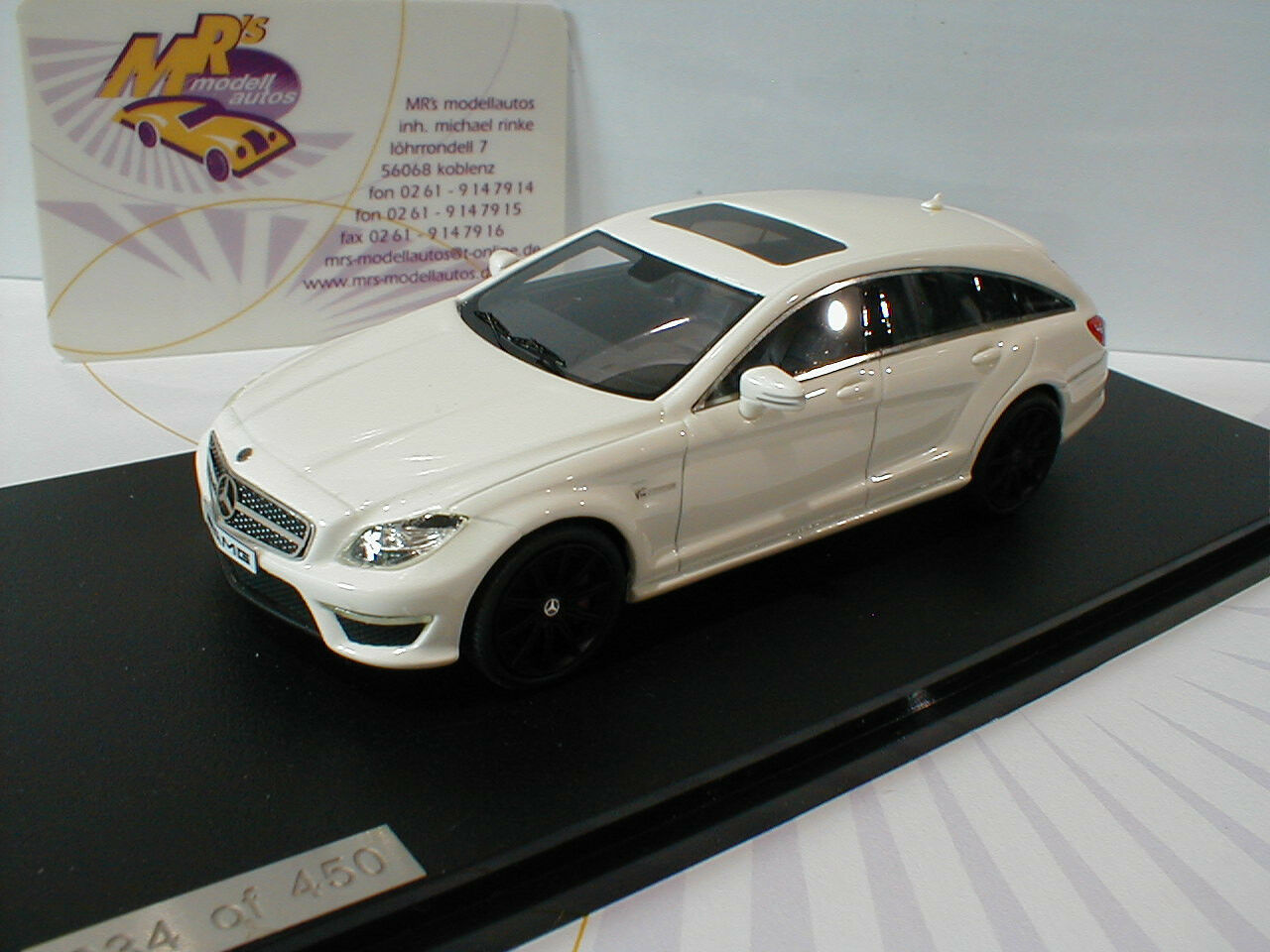 Bma 204901   mercedes - benz cls63 amg shooting brake bj.2014  wei ß  1 43 neu