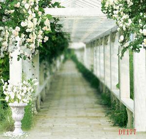 Blumen-Korridor-Vinyl-Hintergrund-Fuer-Fotostudio-Hintergrundstoff-3X3M-DT177