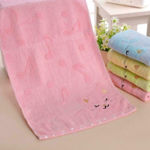 Cartoon Cotton Baby Infant Bath Towel Washcloth Feeding-Wipe Cloth Bamboo F Z1L4