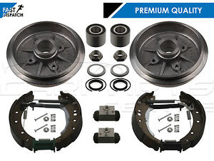 FOR-PEUGEOT-206-1-1-1-4-REAR-BRAKE-DRUMS-SHOES-FITTING-WHEEL-CYLINDERS-BEARINGS