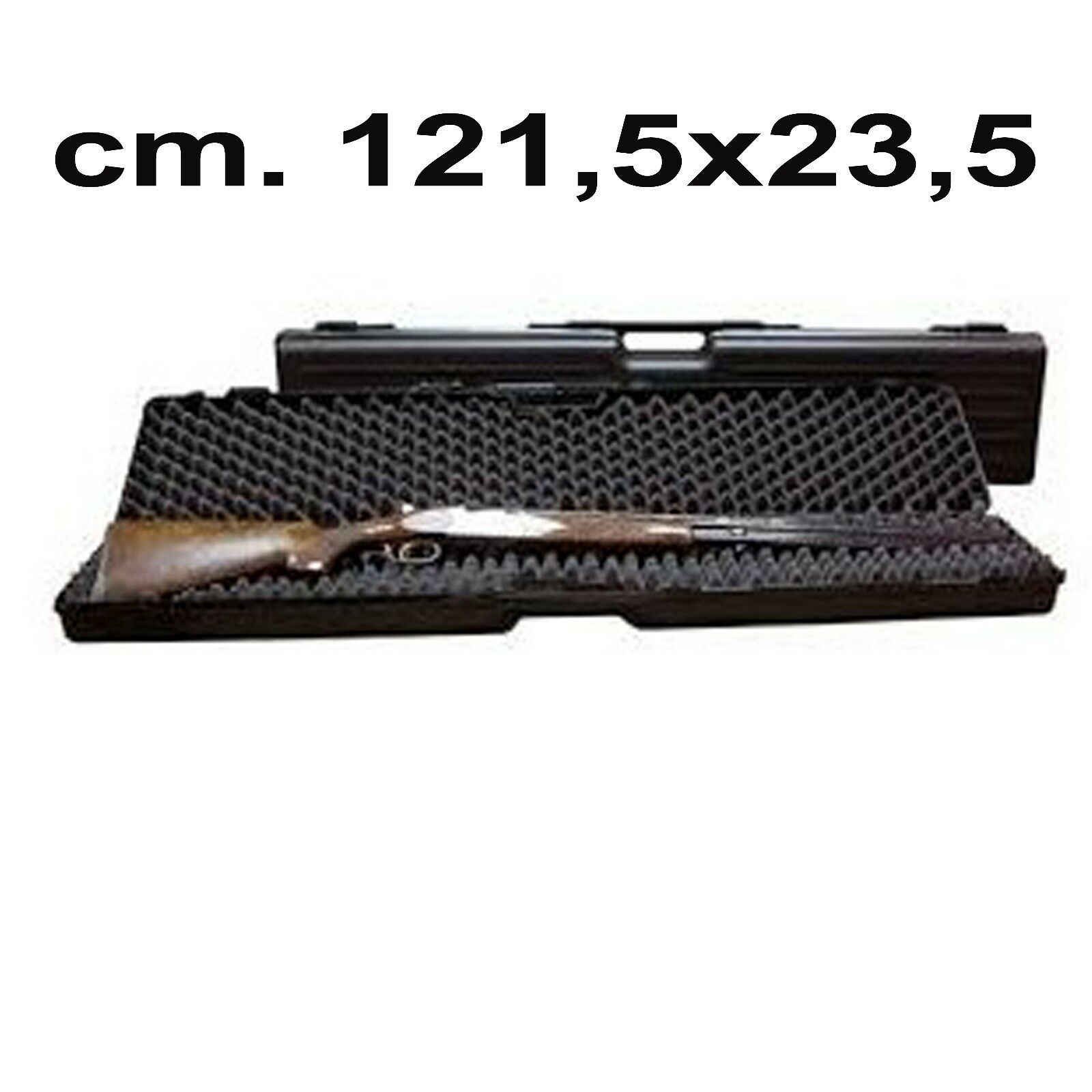 Custodia rigida per armi valigetta imbottita carabina fucile fodero in plastica