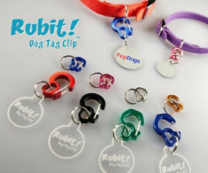 RUBIT-Dog-Pet-Tag-CLIP-Quick-Release-Dog-ID-Tag-Holder-for-Dog-Collar