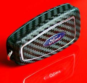 Ford-Mondeo-MK4-Focus-MK3-S-RS-ST-flipp-key-chiave-decor-carbon-optic-sticker